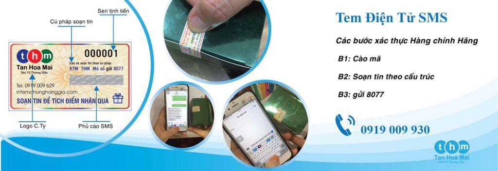 Giải pháp in tem chống hàng giả điện tử SMS