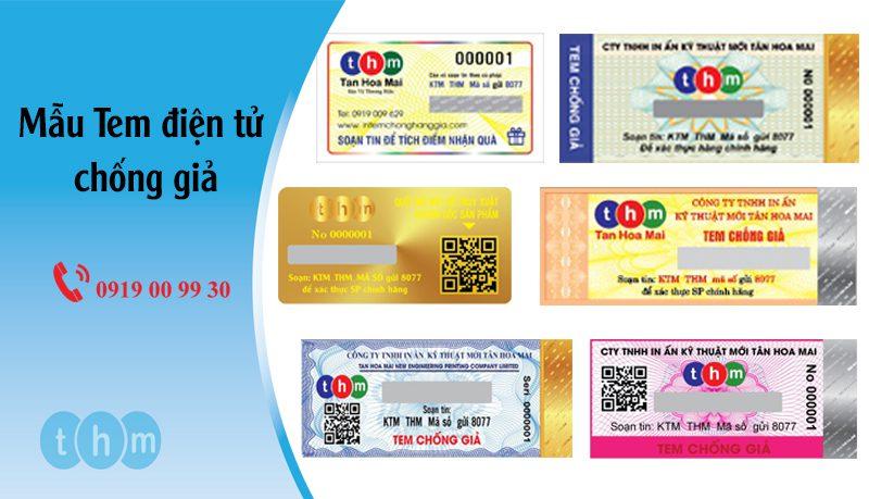 mẫu tem điện tử chống giả