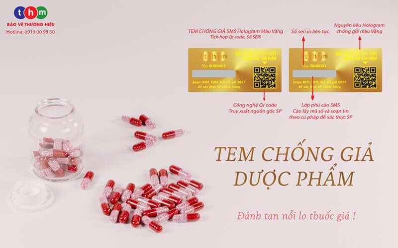 Tem chống giả dược phẩm Tân Hoa Mai