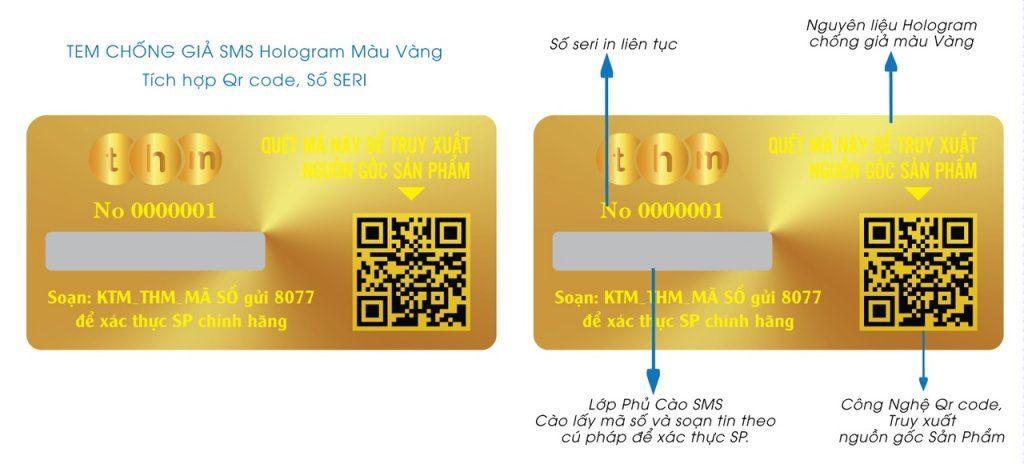 tem truy xuất nguồn gốc tích hợp điện tử