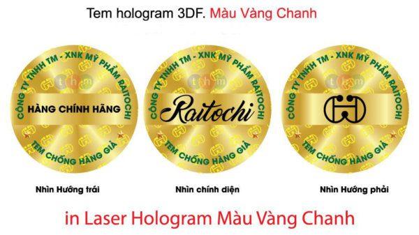 tem chống hàng giả hologram 7 màu tân hoa mai