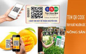 tem qr code truy xuất nguồn gốc nông sản tân hoa mai