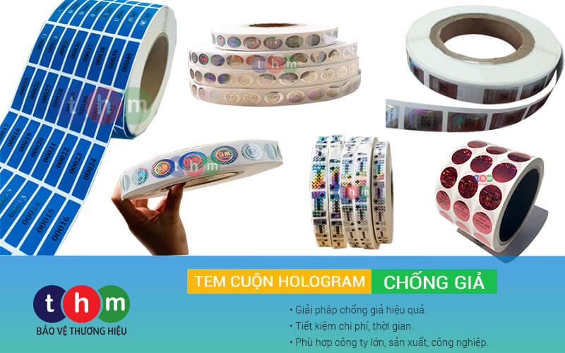in tem cuộn hologram chống giả