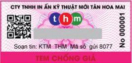 tem chống giả điện tử sms nhận biết nước tân hoa mai