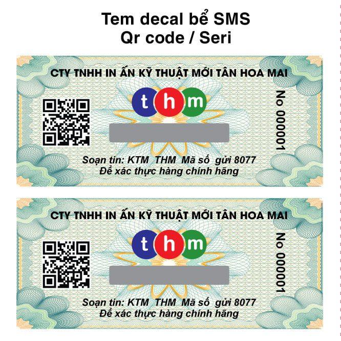 tem decal qr code truy xuất nguồn gốc xác thực hàng hóa