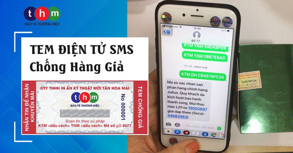 tem điện tử sms chống hàng giả tân hoa mai
